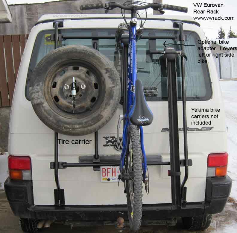 Eurovan tire bike carrier rack