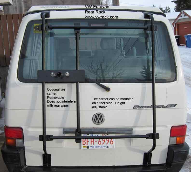 Eurovan tire carrier