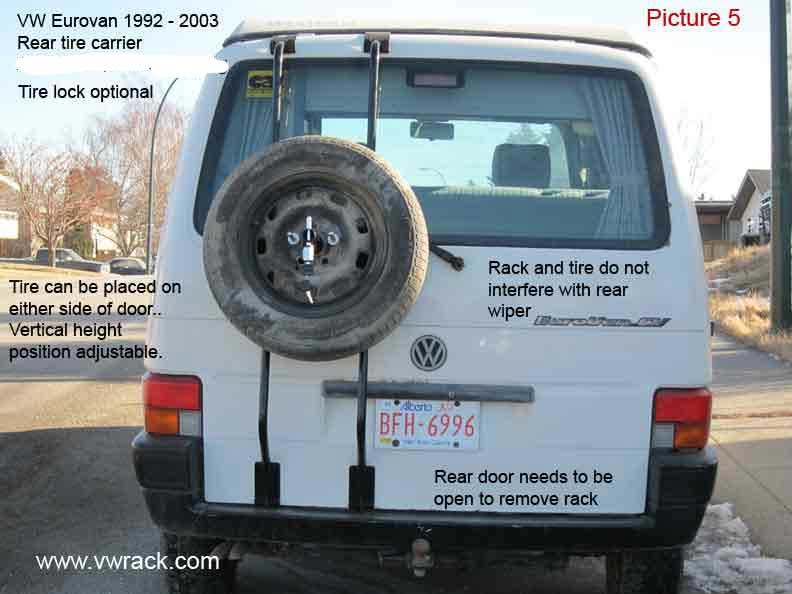 VW Volkswagen Eurovan T4 tire carrier